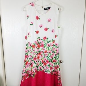 Karl Lagerfeld sleeveless Floral midi dress sz 10